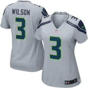 Russell Wilson Seattle Seahawks Nike Women's Game Jersey - Gray