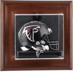 Atlanta Falcons Fanatics Authentic Brown Framed Wall-Mountable Mini Helmet Display Case