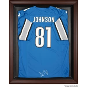 Detroit Lions Fanatics Authentic Brown Framed Logo Jersey Display Case