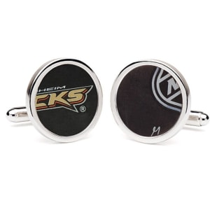 Tokens & Icons Anaheim Ducks NHL Authentic Game-Used Puck Round Cuff Links