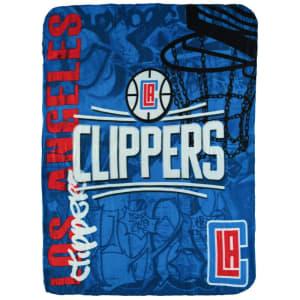 "LA Clippers 50"" x 60"" Hard Knocks Fleece Throw Blanket"