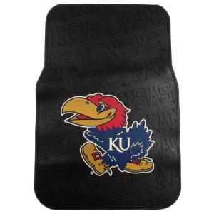 Kansas Jayhawks 2-Pack Car Front Floor Mats - Black