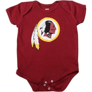 Washington Redskins Newborn & Infant Team Logo Bodysuit - Burgundy