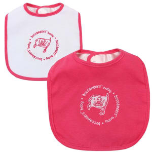 Infant Tampa Bay Buccaneers Historic Logo Pink/White 2-Pack Baby Bibs