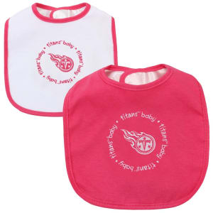 Infant Tennessee Titans Pink/White 2-Pack Baby Bibs