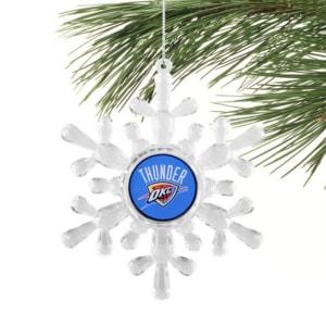 Oklahoma City Thunder Snowflake Ornament