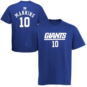 Eli Manning New York Giants Youth Primary Gear Player Name & Number T-Shirt - Royal Blue