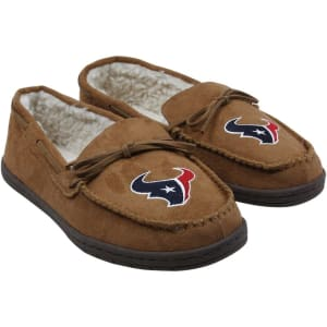 Houston Texans Moccasin Slippers - Tan