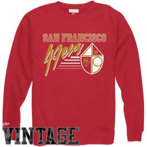 Mitchell & Ness San Francisco 49ers NFL Training Room Crew Sweatshirt - Red