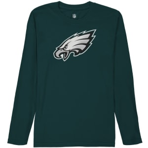 Philadelphia Eagles Youth Team Logo Long Sleeve T-Shirt - Midnight Green
