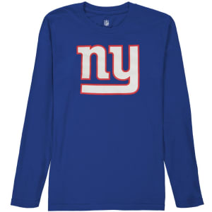 New York Giants Youth Team Logo Long Sleeve T-Shirt - Royal Blue