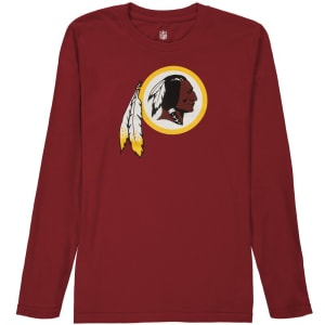 Washington Redskins Youth Team Logo Long Sleeve T-Shirt - Burgundy