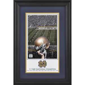 "Notre Dame Fighting Irish Fanatics Authentic Framed 10"" x 18"" 11-Time Football National Champions Legacy Print"