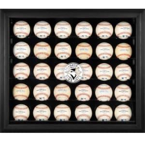 Toronto Blue Jays Fanatics Authentic Logo Black Framed 30-Ball Display Case