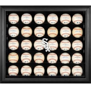 Chicago White Sox Fanatics Authentic Logo Black Framed 30-Ball Display Case