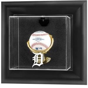 Detroit Tigers Fanatics Authentic Black Framed Wall-Mounted Logo Baseball Display Case