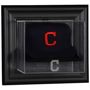 Cleveland Indians Fanatics Authentic Black Framed Wall-Mounted Logo Cap Display Case