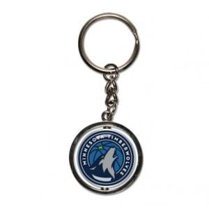 Minnesota Timberwolves Spinner Key Ring