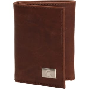 Michigan State Spartans Leather Tri-Fold Wallet with Concho - Brown