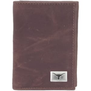 Texas Longhorns Leather Concho Trifold Wallet