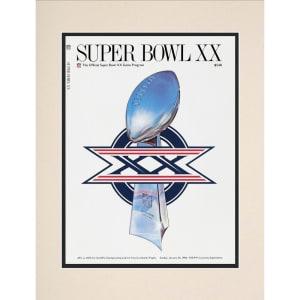 "Fanatics Authentic 1986 Bears vs. Patriots 10.5"" x 14"" Matted Super Bowl XX Program"