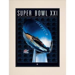"""Fanatics Authentic 1987 Giants vs. Broncos 10.5"""" x 14"""" Matted Super Bowl XXI Program"""