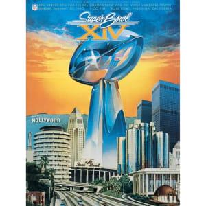 "Fanatics Authentic 1980 Steelers vs. Rams 22"" x 30"" Canvas Super Bowl XIV Program"