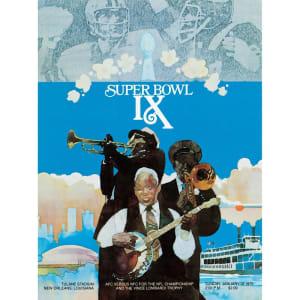 "Fanatics Authentic 1975 Steelers vs. Vikings 36"" x 48"" Canvas Super Bowl IX Program"