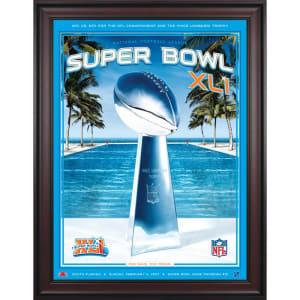 "Fanatics Authentic 2007 Colts vs. Bears Framed 36"" x 48"" Canvas Super Bowl XLI Program"
