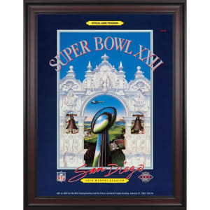 "Fanatics Authentic 1988 Redskins vs. Broncos Framed 36"" x 48"" Canvas Super Bowl XXII Program"