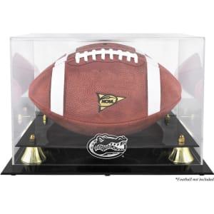 Florida Gators Fanatics Authentic Golden Classic Logo Football Display Case with Mirror Back