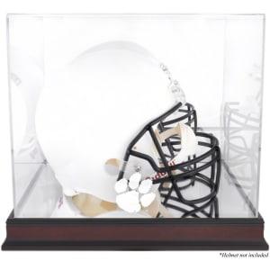 Clemson Tigers Fanatics Authentic Mahogany Base Team Logo Helmet Display Case with Mirrored Back