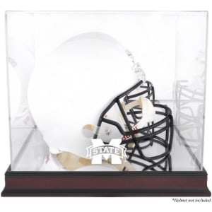 Mississippi State Bulldogs Fanatics Authentic Mahogany Base Team Logo Helmet Display Case with Mirrored Back
