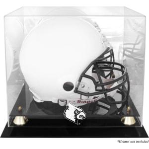 Louisville Cardinals Fanatics Authentic Golden Classic Logo Helmet Display Case with Mirrored Back