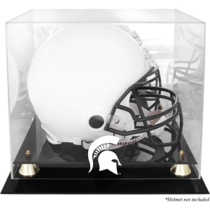 Michigan State Spartans Fanatics Authentic Golden Classic Logo Helmet Display Case with Mirrored Back