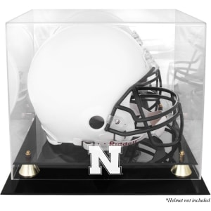 Nebraska Cornhuskers Fanatics Authentic Golden Classic Logo Helmet Display Case with Mirrored Back