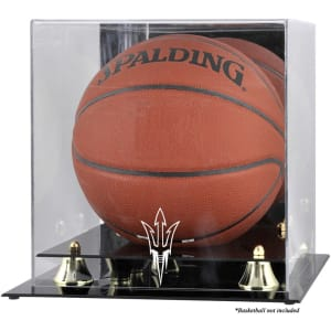 Arizona State Sun Devils Fanatics Authentic Golden Classic Logo Basketball Display Case with Mirror Back