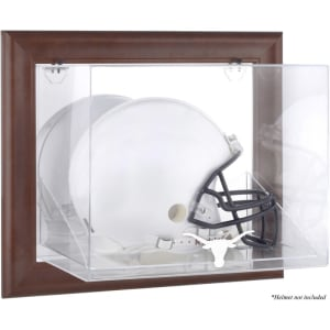 Texas Longhorns Fanatics Authentic Brown Framed Wall-Mountable Helmet Display Case