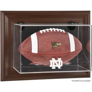 Notre Dame Fighting Irish Fanatics Authentic Brown Framed Wall-Mountable Football Display Case