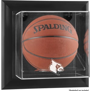 Louisville Cardinals Fanatics Authentic Black Framed Logo Wall-Mountable Basketball Display Case
