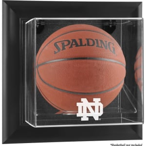 Notre Dame Fighting Irish Fanatics Authentic Black Framed Wall-Mountable Basketball Display Case