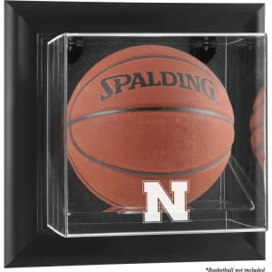 Nebraska Cornhuskers Fanatics Authentic Black Framed Wall-Mountable Basketball Display Case