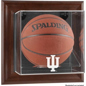 Indiana Hoosiers Fanatics Authentic Brown Framed Wall-Mountable Basketball Display Case