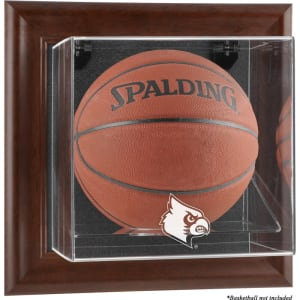 Louisville Cardinals Fanatics Authentic Brown Framed Logo Wall-Mountable Basketball Display Case