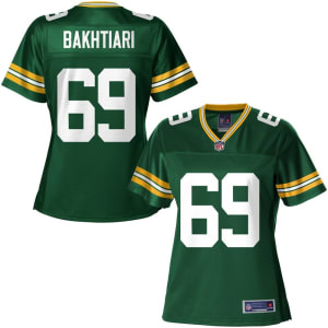 NFL Pro Line Women's Green Bay Packers David Bakhtiari Team Color Jersey