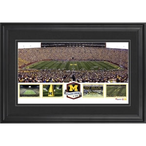 Michigan Wolverines Fanatics Authentic Framed Michigan Stadium Panoramic Collage-Limited Edition of 500