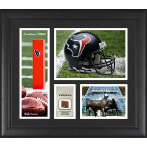 "Houston Texans Fanatics Authentic Framed 15"" x 17"" Team Logo Collage with Piece of Game-Used Football"