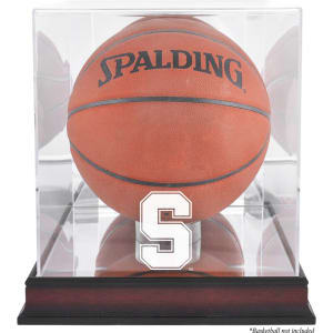 Stanford Cardinal Fanatics Authentic Mahogany Antique Finish Basketball Display Case with Mirror Back