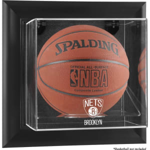 Brooklyn Nets Fanatics Authentic Black Framed Wall-Mounted Basketball Display Case