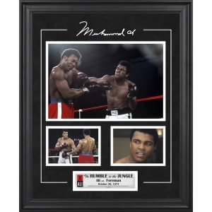Muhammad Ali Fanatics Authentic Framed 3-Photograph Rumble in the Jungle Collage